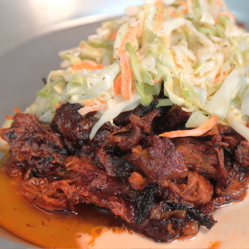 Pulled Pork with BBQ Sauce and Slaw 16oz - Fully Cooked Ready to Reheat