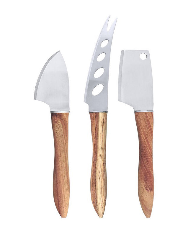 SWISSMAR 3 PIECE ACACIA CHEESE KNIFE SET