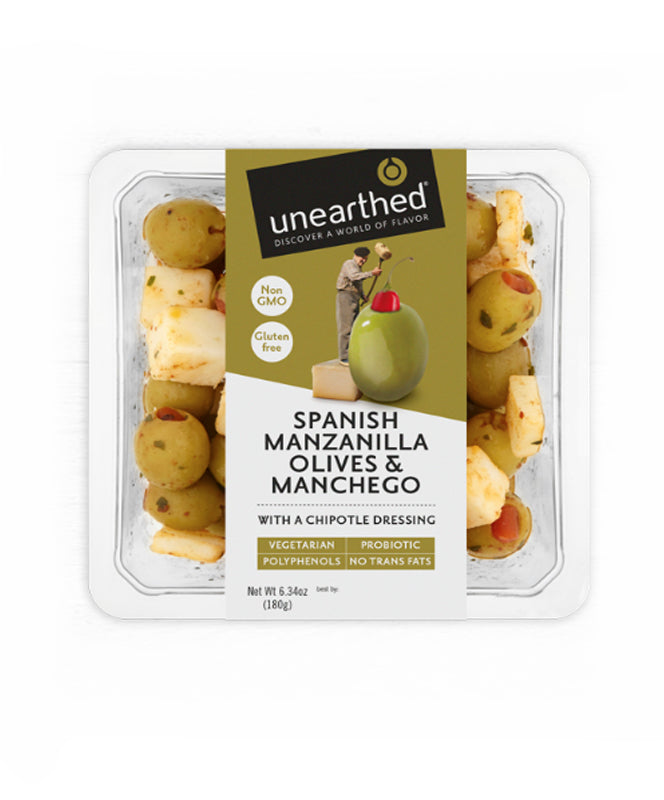 Unearthed Spainish Manzanill Olives & Manchego