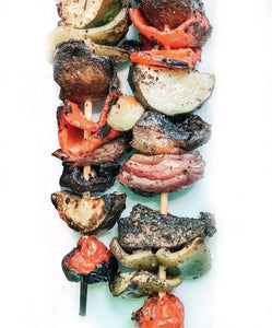 4 Veggie Kabobs (Vegan Optional) - Par-cooked and Ready to Reheat