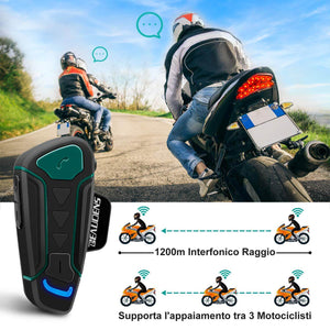 1.2 MILES LONG-RANGE of BEAUDENS Wireless Bluetooth Intercom