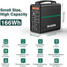 Load image into Gallery viewer, BEAUDENS 166wh portable power station