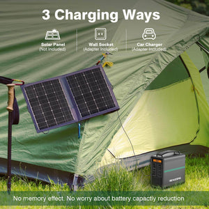 3 charging ways of BEAUDENS 166wh portable power station