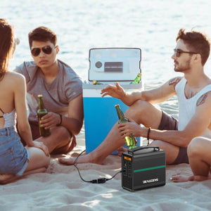 BEAUDENS 166wh portable power station on beach