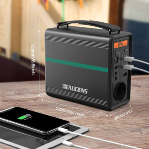Dimension of BEAUDENS 166wh portable power station