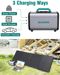 3 charging ways of BEAUDENS 380wh portable power station