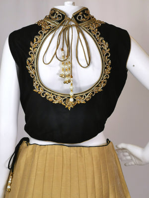 High neck lehenga