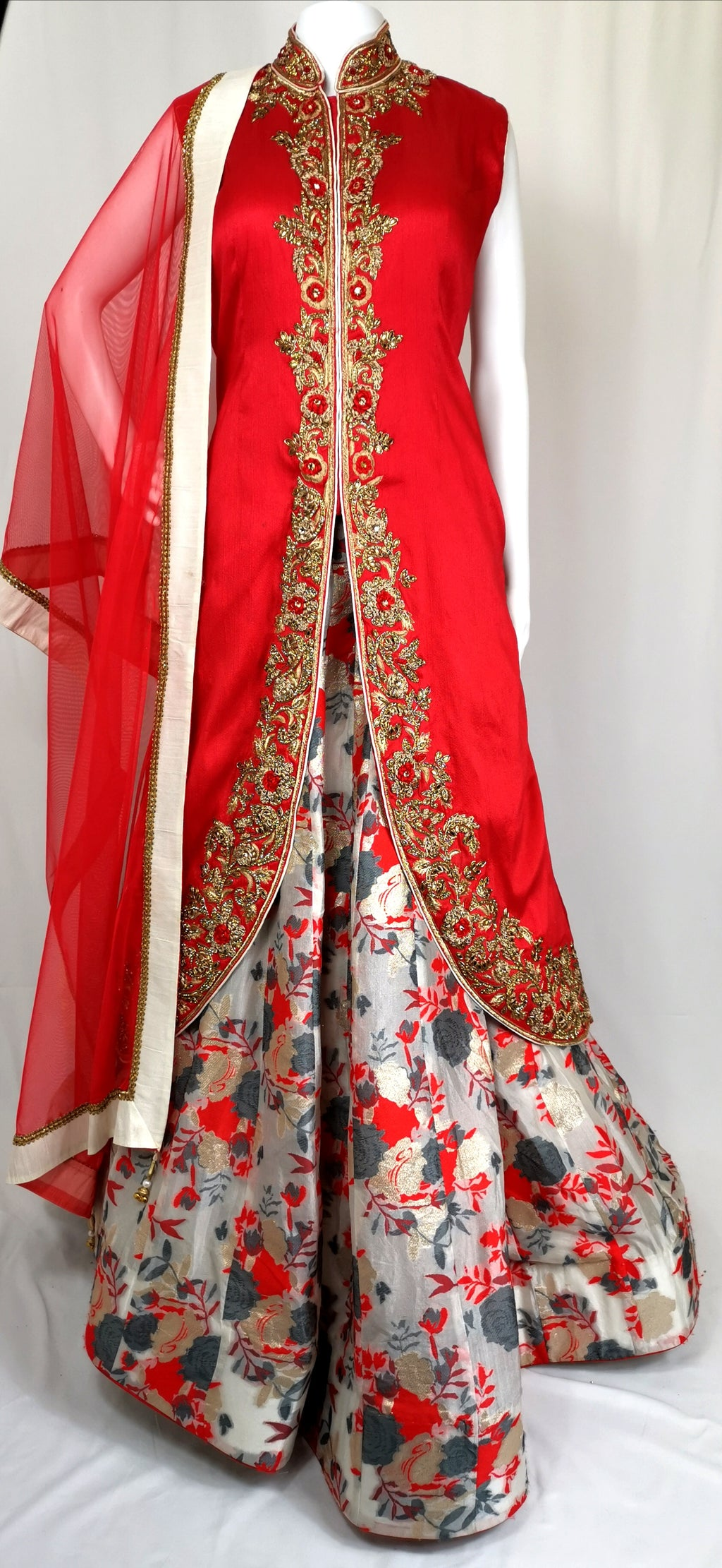 High neck lehenga choli
