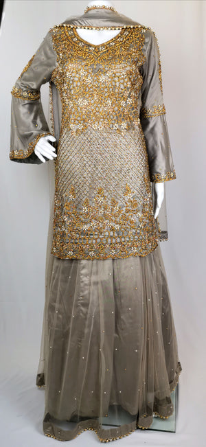 Straight shirt with lehenga