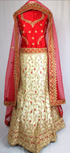 Red and cream indian lehenga wedding/partywear
