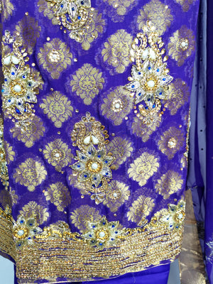 Jacquard georgette suit 4 piece