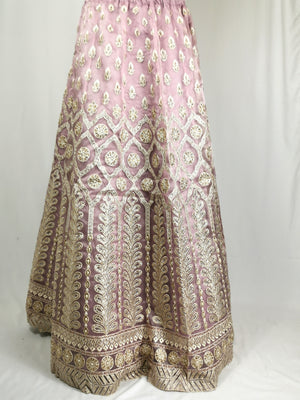 Dusty lilac unstiched lehenga