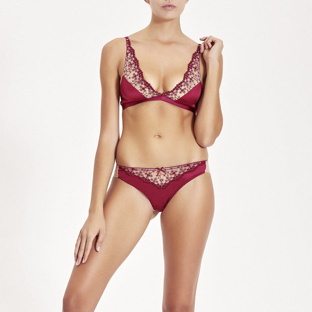 Bralette Iberis bordeaux