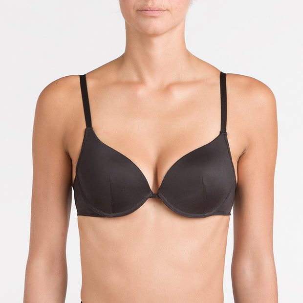 1  fronte nero nero 17051 Reggiseno push-up in microfibra
