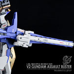 G- Rework V2 Gundam Assault Buster Water Decal