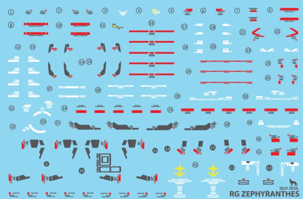 Delpi RG RX-78GP01 Zephyranthes Water Decal