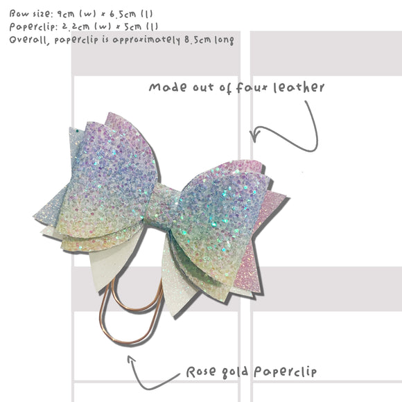 Rainbow Bow Paperclip
