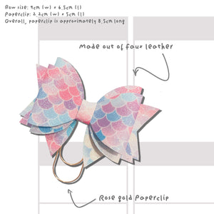 Patterned Bow Paperclip