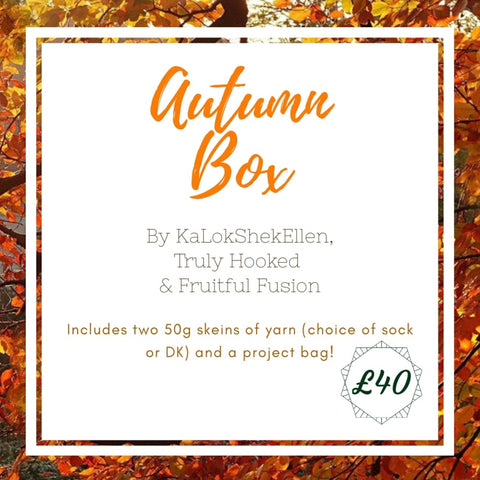 Autumn Box graphic explaining what it includes with the price of £40