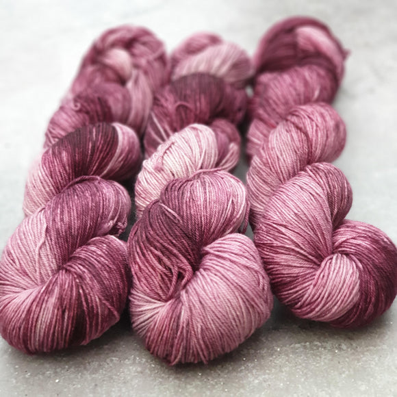 Blush. Merino Nylon 4-ply/fingering