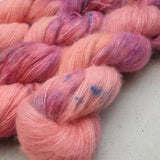 Bright Pink OOAK. Suri Silk Cloud lace