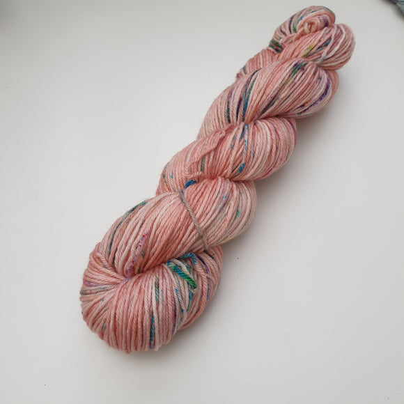 CLEARANCE Speckled Peach. Merino Nylon DK