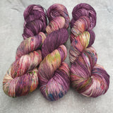 Purple Mania. Merino Nylon 4-ply/fingering
