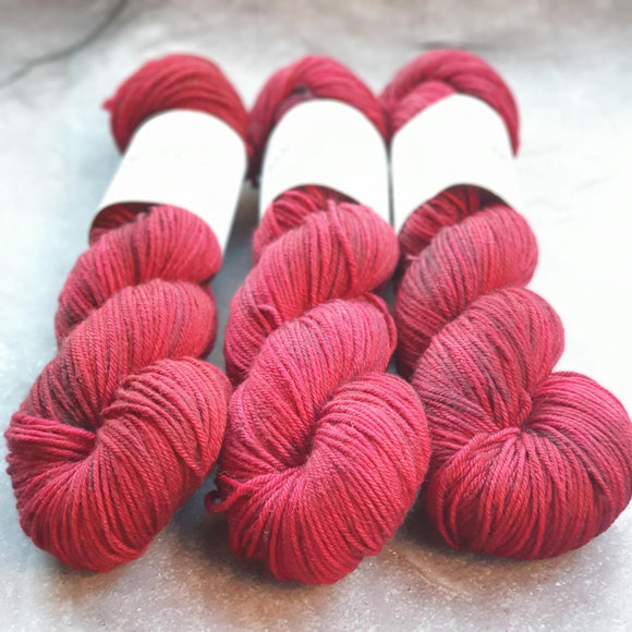 Sweet Red Apple. Merino Nylon DK