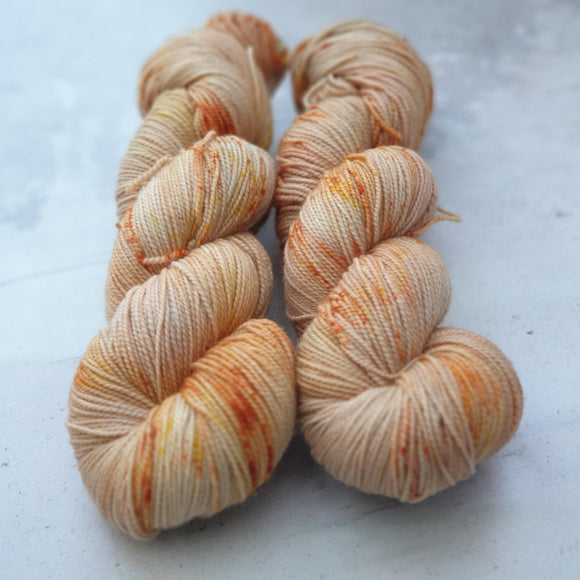 Salted Caramel. Merino Nylon High Twist 4-ply/fingering