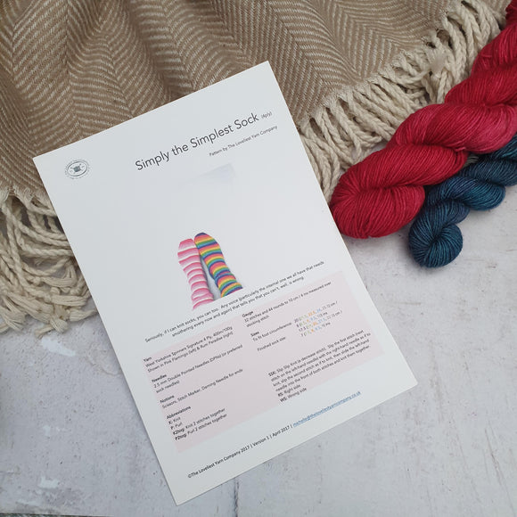 Simply the Simplest Sock Pattern by The Loveliest Yarn Company