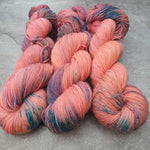 Load image into Gallery viewer, Strawberry Sky. Merino Nylon High Twist 4-ply/fingering