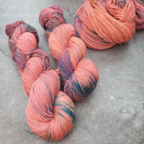 Strawberry Sky. Merino Nylon High Twist 4-ply/fingering
