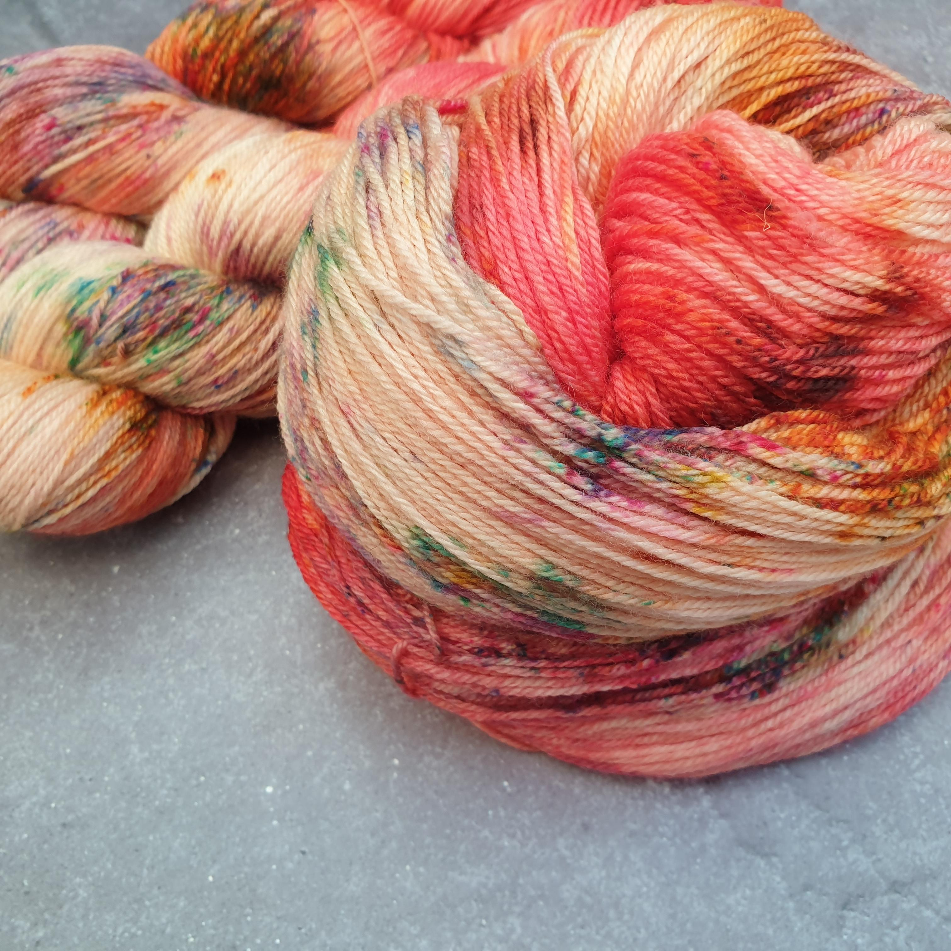 CHARITY YYF COLOURWAY Summer Breeze. 100% Merino 4-ply/fingering