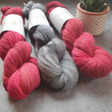Sweet Red Apple. 100% Merino Singles 4-ply/fingering