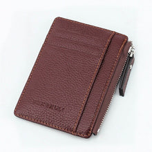 Charger l'image dans la galerie, Wallet Mini PU Leather Card Holders Credit Cards Slots Purse Small Men Carteira Women Zipper Coin Pocket Short Ultra Thin Wallet