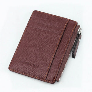 Wallet Mini PU Leather Card Holders Credit Cards Slots Purse Small Men Carteira Women Zipper Coin Pocket Short Ultra Thin Wallet