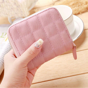 Women Ladies Wallet Leather Zip Coin Women Ladies Wallet Leather Zip Coin Purse Casual Handbag Small Mini Card Holder