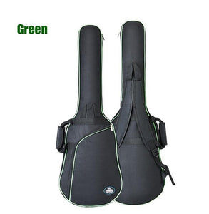 40/41 inchs Oxford Fabric Electric Guitar Case Colorful Edge Gig Bag Double Straps Pad 8mm Cotton Thickening Soft Cover
