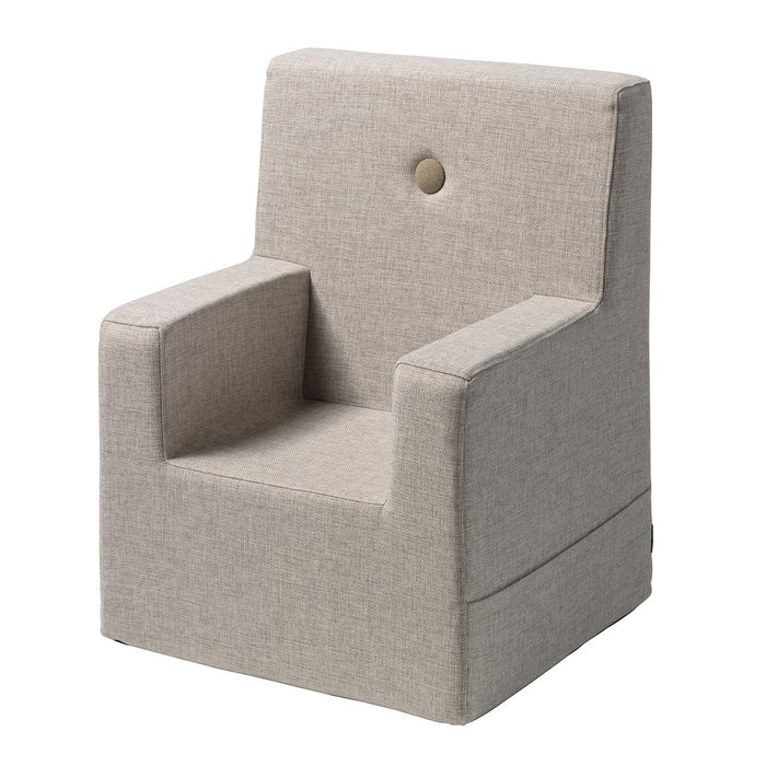 By KlipKlap KK Kids Chair XL - Beige med sandfarvede knapper