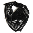 BLACK AND WHITE SQUARE SILK SCARF