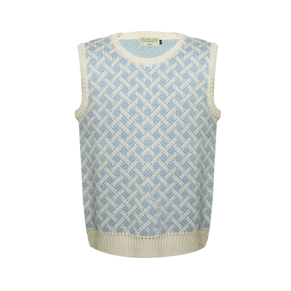 MULTICOLOR JACQUARD WOOL SWEATER VEST