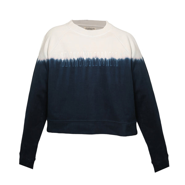MULTICOLOR DIP-DYE FRENCH TERRY SWEATSHIRT