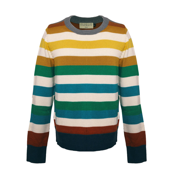 MULTICOLOR STRIPED WOOL SWEATER