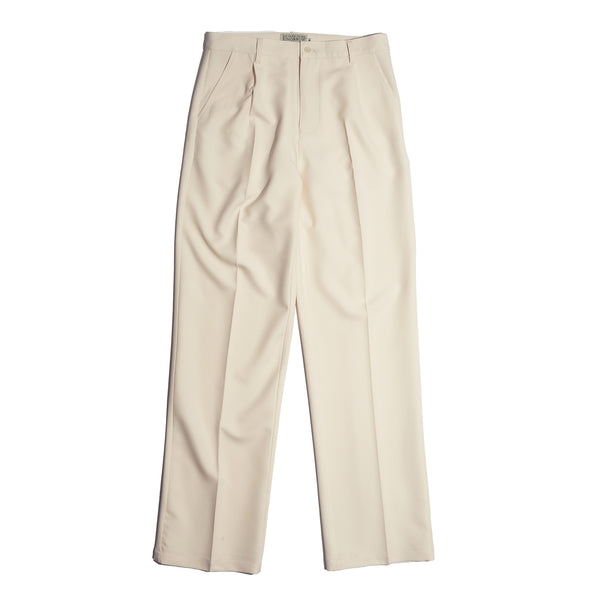 OFF-WHITE HIGH RISE TROUSER