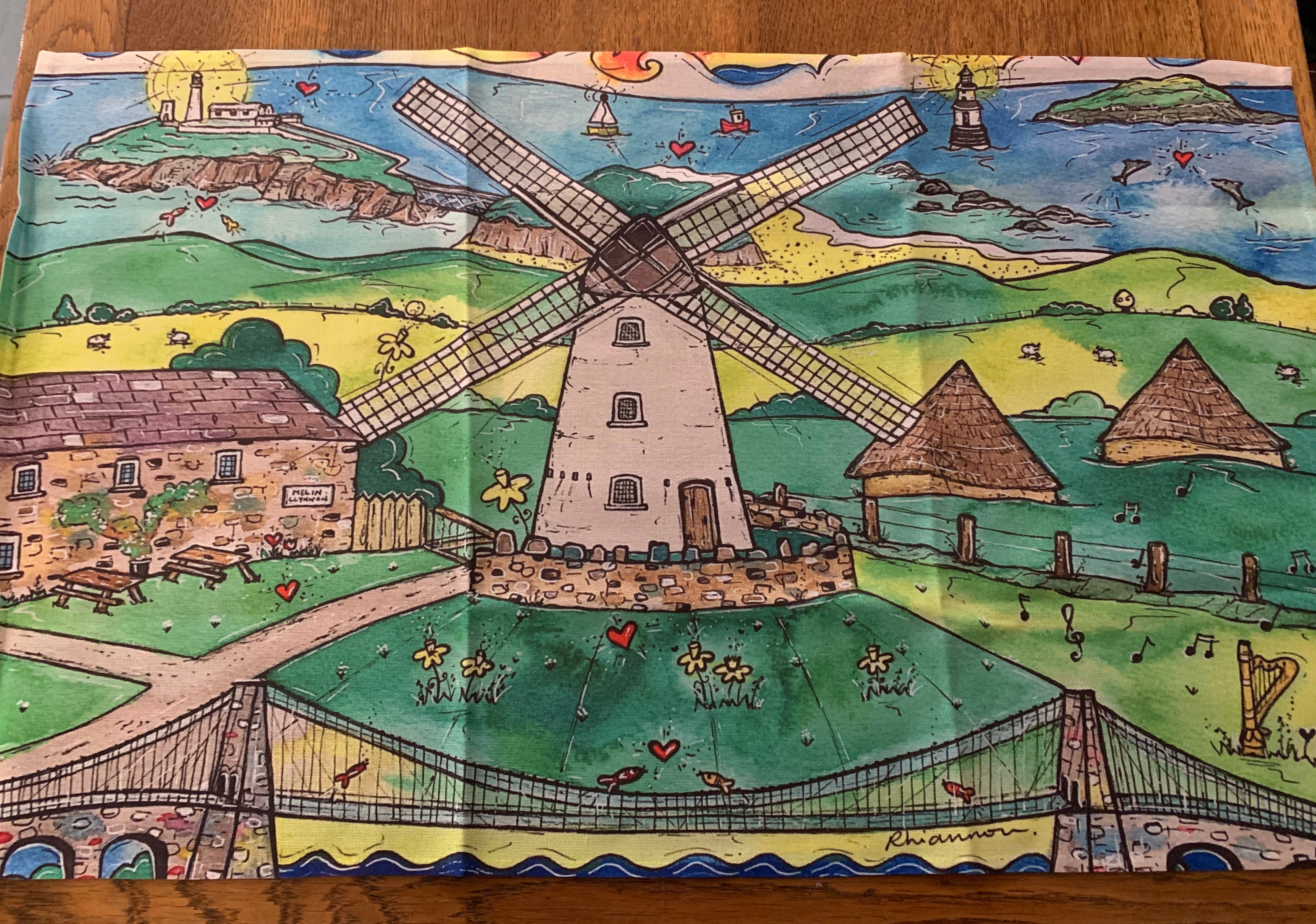 Anglesey scene Tea towel