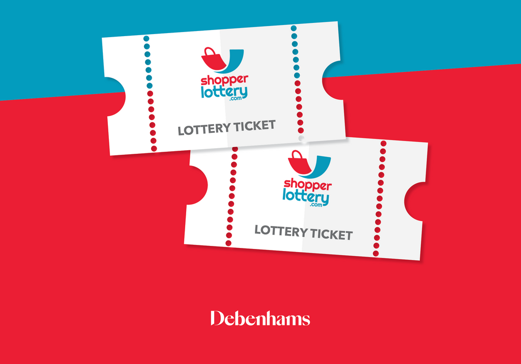 Shop at Debenhams and get into a draw to win!