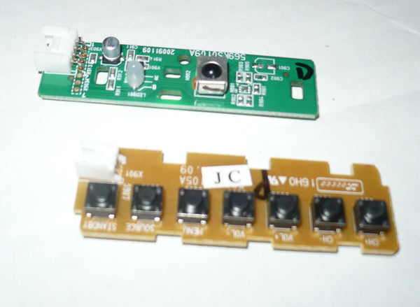 DYNEX DX32L150A11  TV BUTTON AND IR BOARD  569KS0109A, 569KS0105A