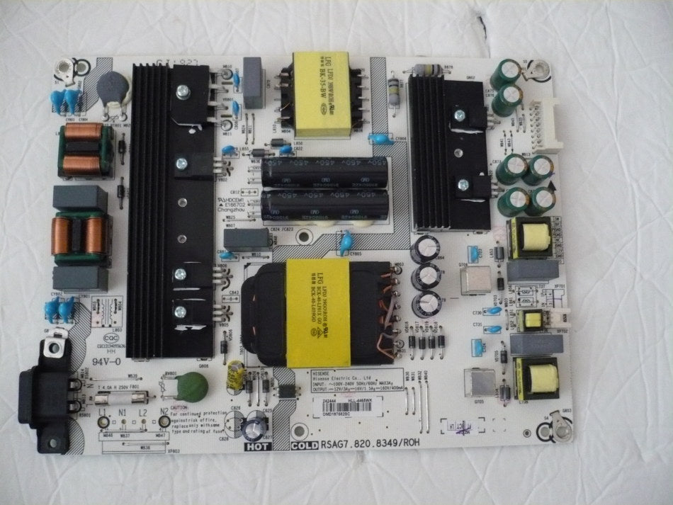 HISENSE 58R6E TV POWER SUPPLY BOARD 242444 / RSAG7.820.8349/ROH