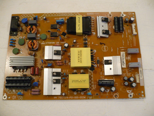 INSIGNIA NS-50DR710NA17 TV POWER SUPPLY BOARD PLTVFY411XAF7 / 715G7374-P01-000-002M