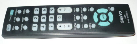 SANYO GXBM ORIGINAL TV REMOTE CONTROL